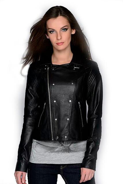 Куртка косуха женская из мягкой кожи черная в Курске недорого Дворец кожи и меха Тиффи