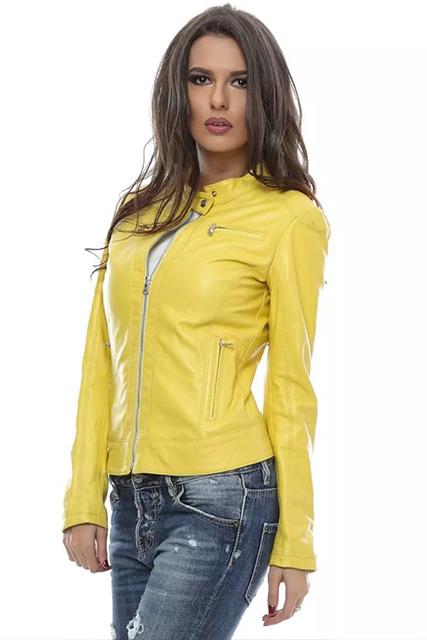Куртка женская из кожи желтая в Курске недорого Дворец кожи и меха Тиффи