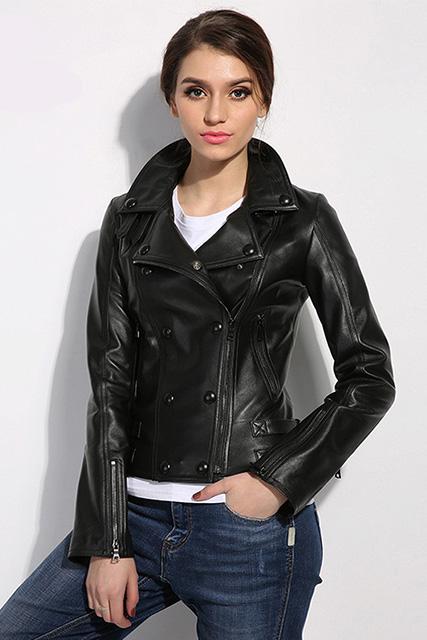 Куртка женская из мягкой кожи черная в Курске недорого Дворец кожи и меха Тиффи