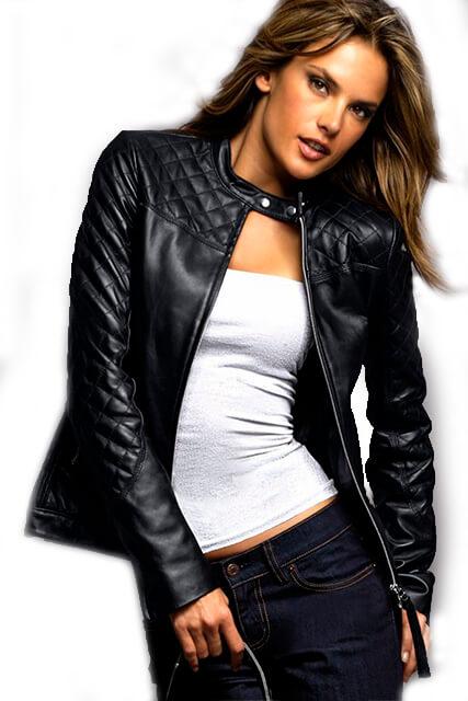 Куртка приталенная женская из кожи со вставками из перфорированной кожи в Курске недорого Дворец кожи и меха Тиффи