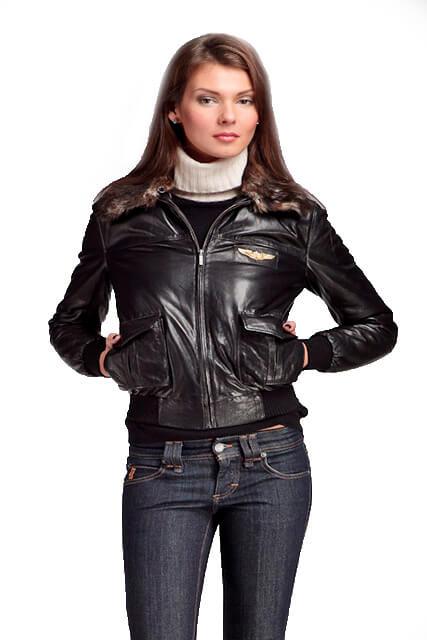Куртка приталенная женская из кожи с мехом в Курске недорого Дворец кожи и меха Тиффи