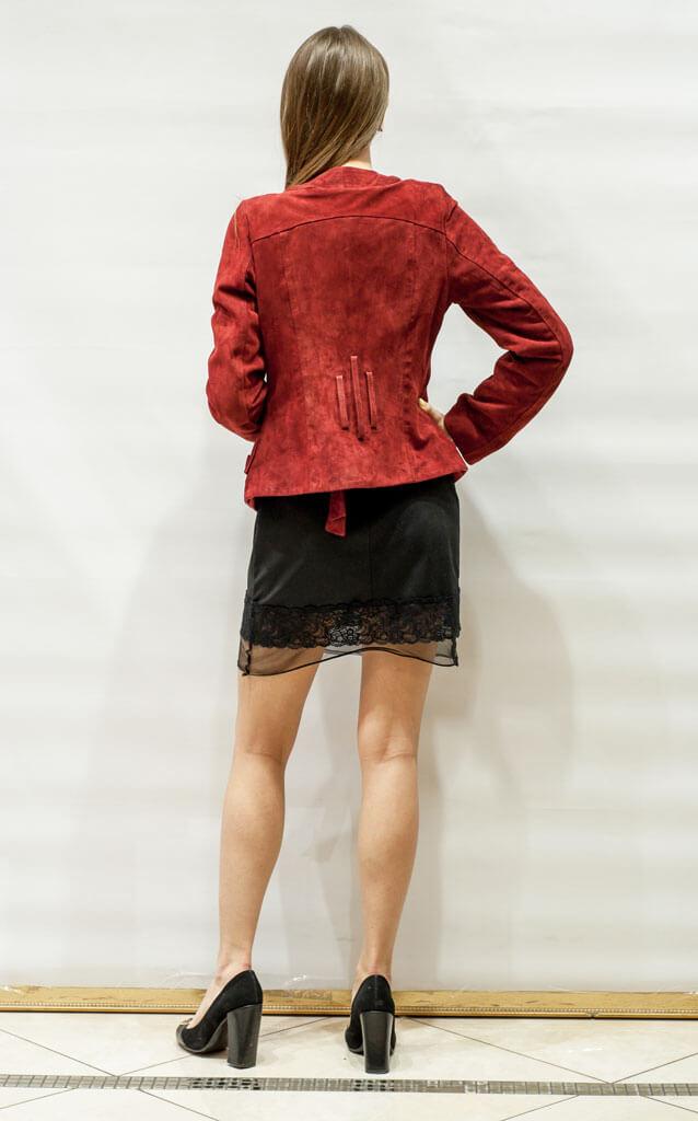 Куртка женская из замши красная в Курске недорого Дворец кожи и меха Тиффи Фото 2