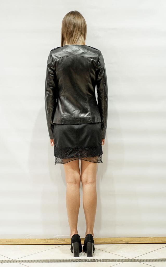 Куртка женская из кожи с воротником Шанель недорого Дворец кожи и меха Тиффи. Фото 2
