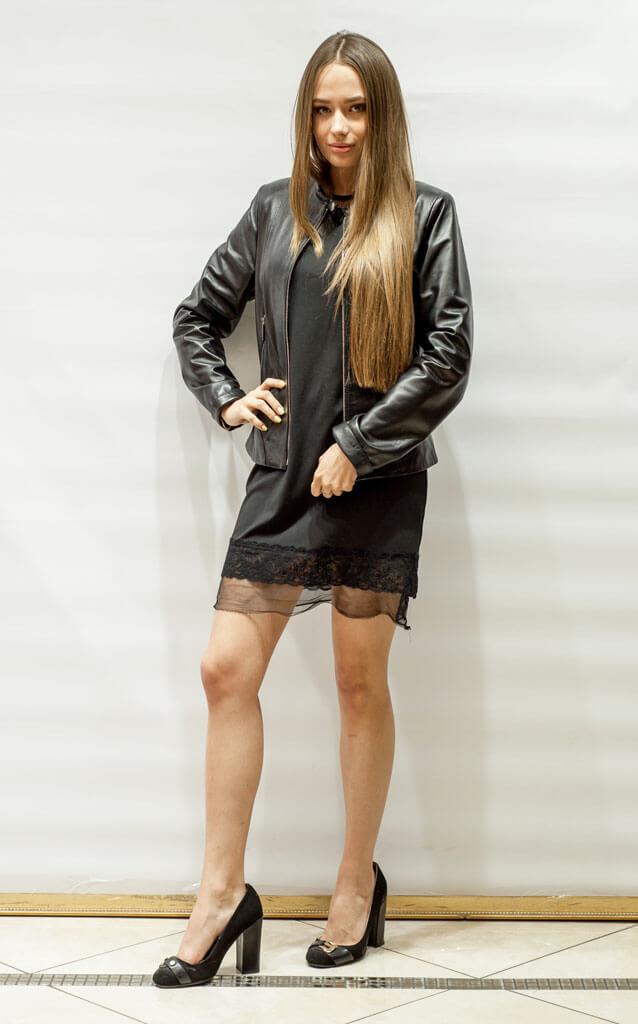 Куртка женская кожи в стиле Минимал недорого Дворец кожи и меха Тиффи
