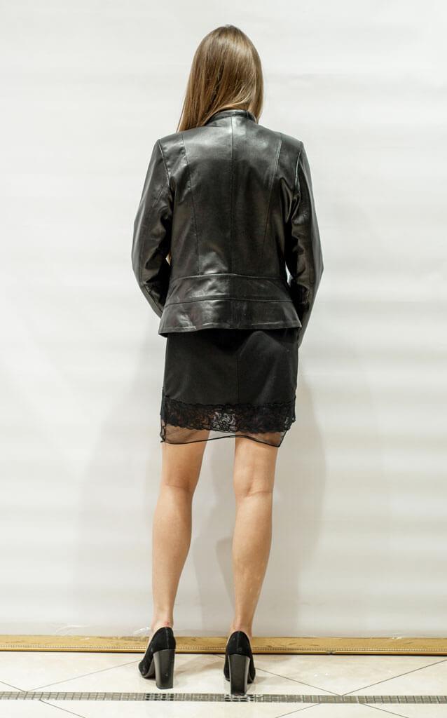 Куртка женская кожи в стиле Минимал недорого Дворец кожи и меха Тиффи. Фото 2